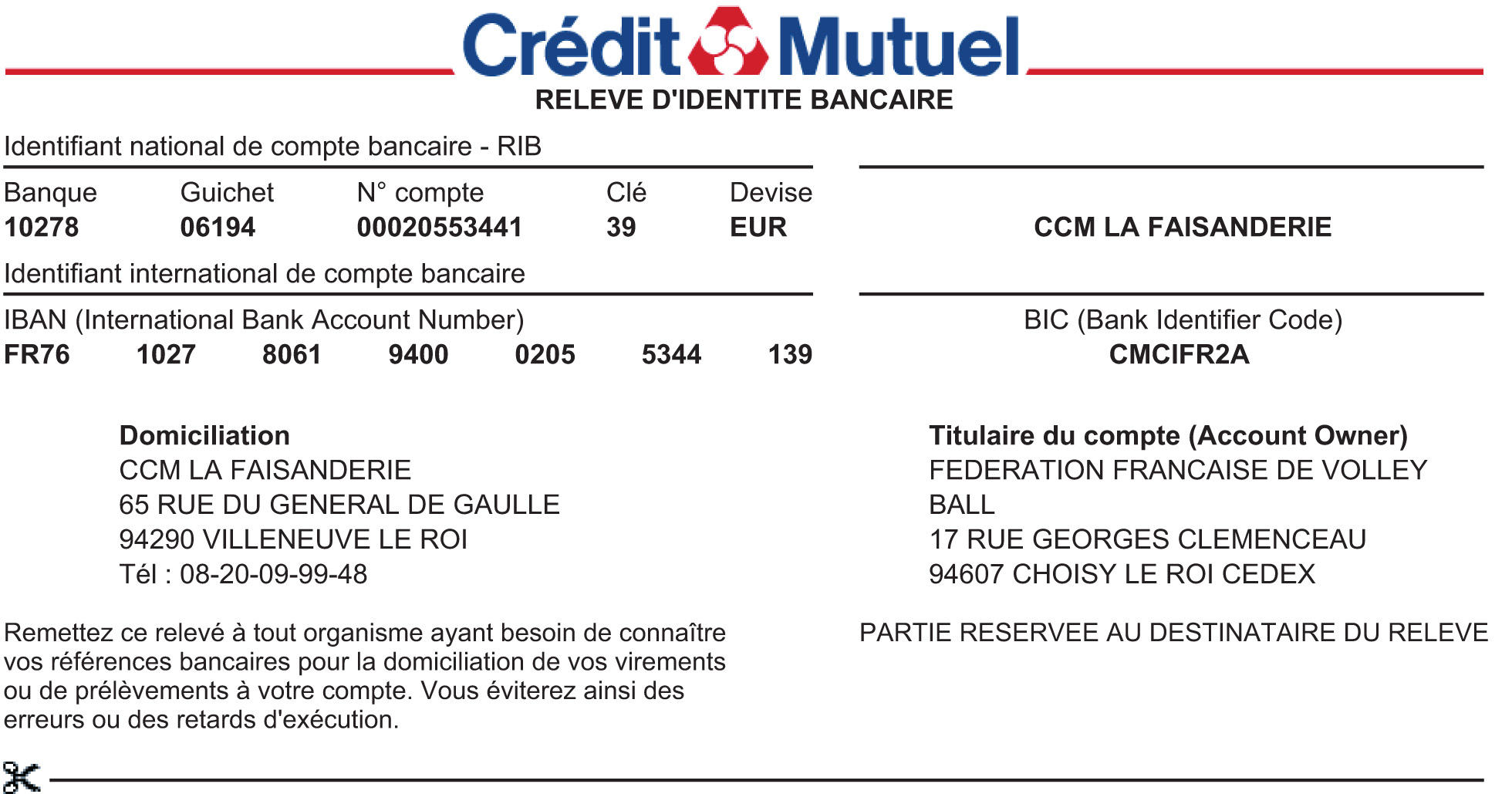 F d ration fran aise de volley ball - Plafond compte courant credit mutuel ...